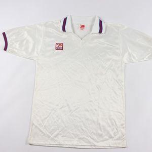 80s New Patrick Mens Medium Soccer Jersey White